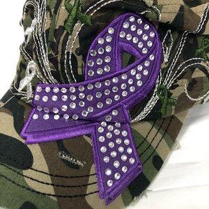 a45efc46ad804 Accessories - Camo Purple Ribbon Pancreatic Cancer Awareness